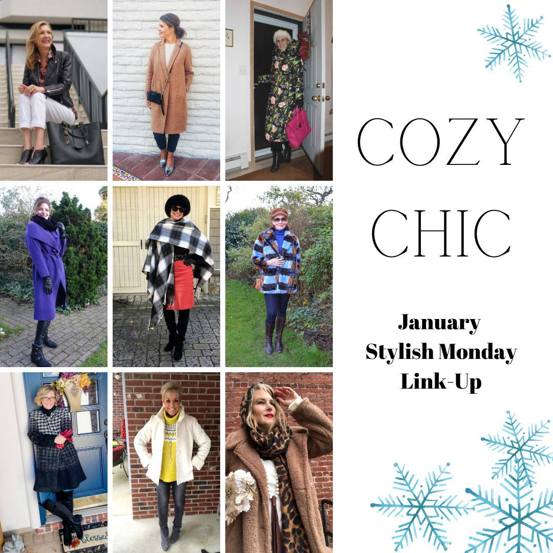 New Year Cozy Chic - January's Stylish Monday link up collage