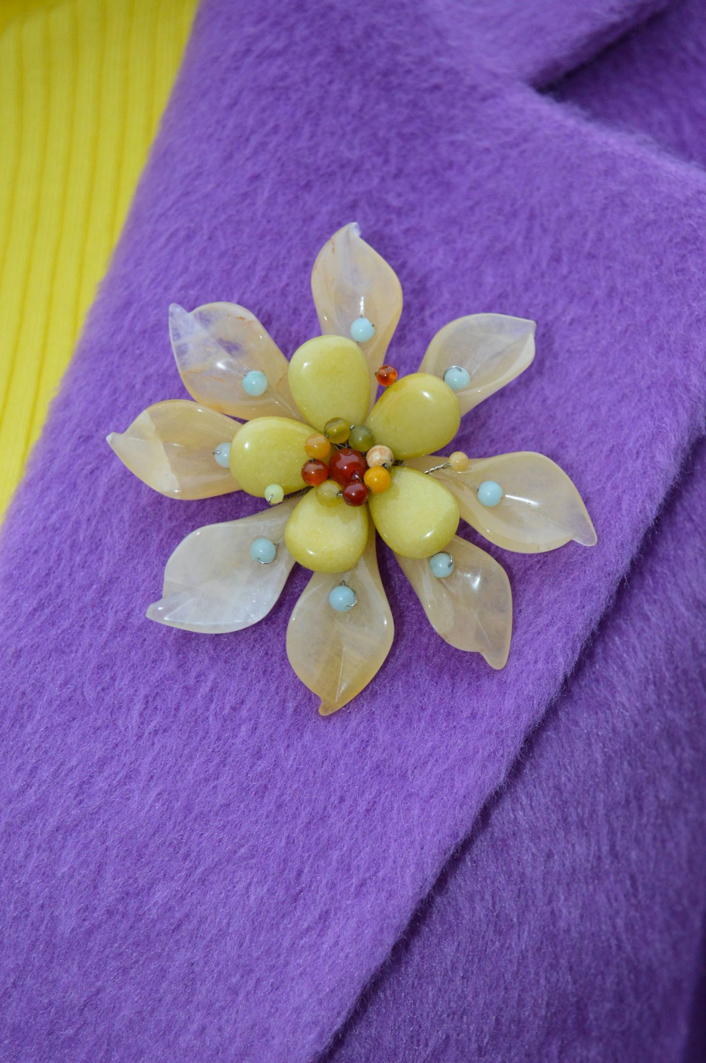Pia jewellery yellow flower brooch