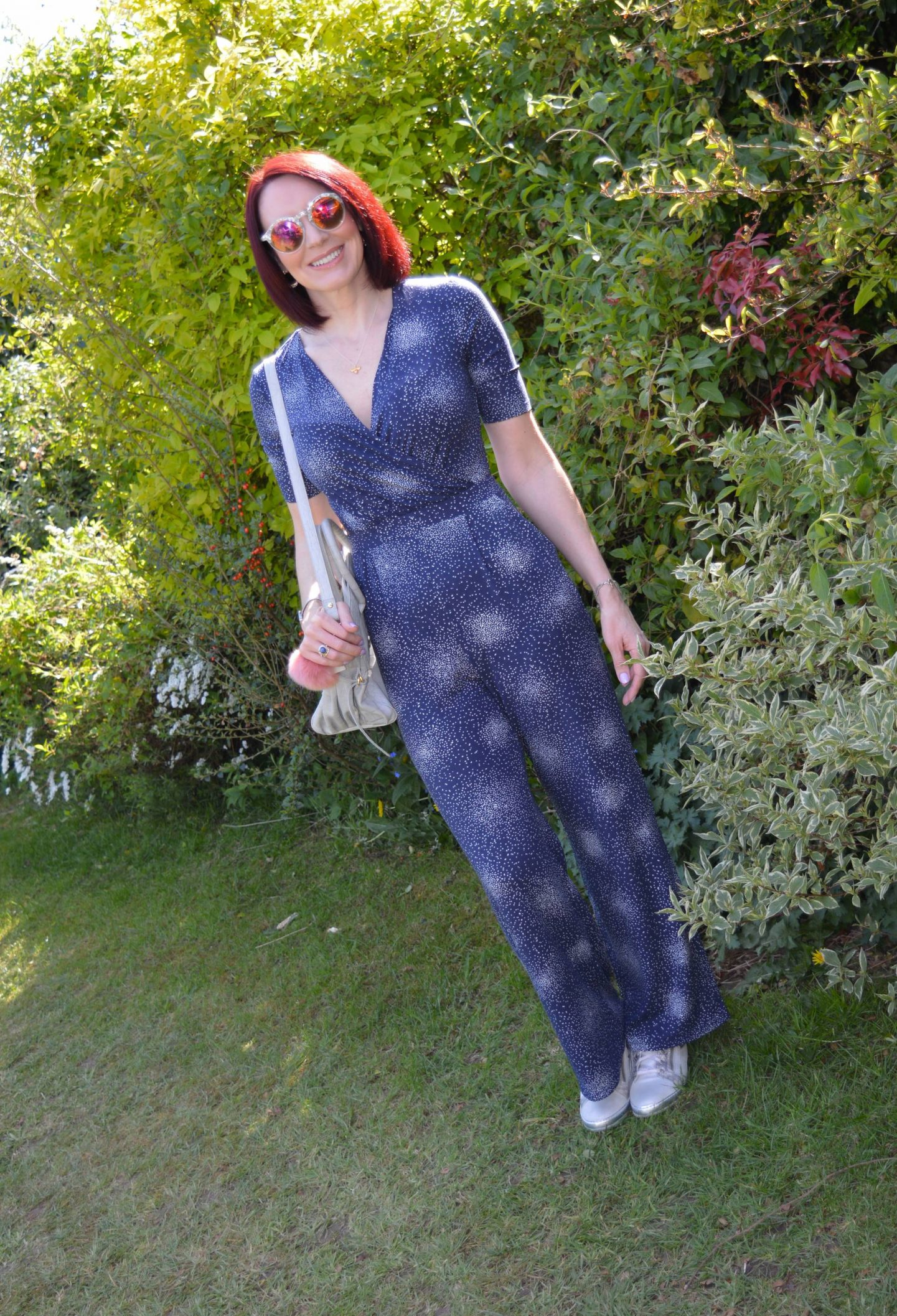 Dressing Up in Comfort - Stretch Jersey Jumpsuit and Trainers, Laura Ashley jumpsuit