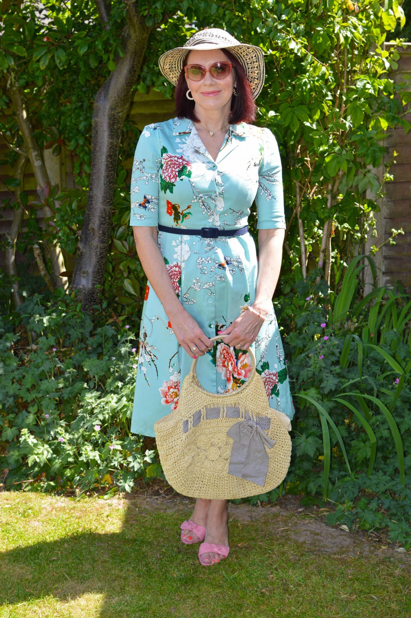 Inspired by Steel Magnolias - Match Made in Seven, Jolie Moi floral print dress