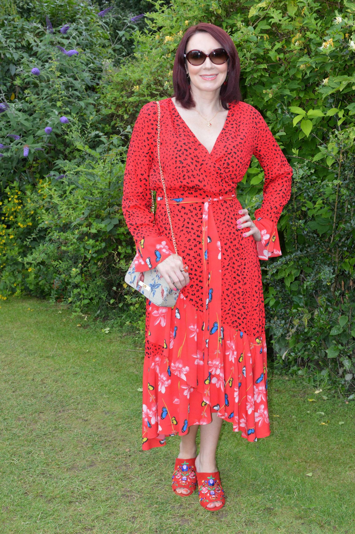 My Signature Colour: Red - July's Style Not Age, Dark Pink wrap front midaxi dress