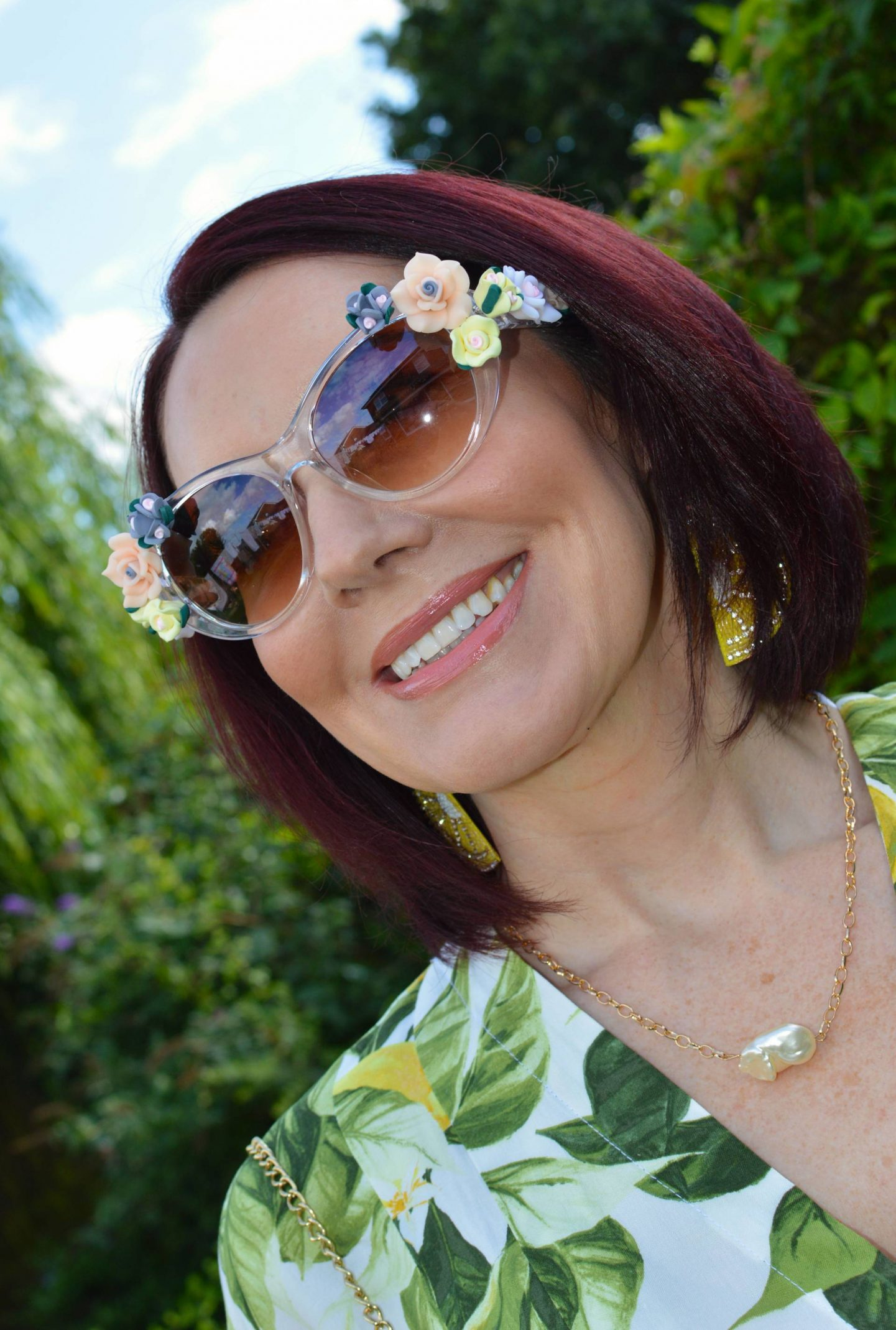 Jeepers Peepers flower sunglasses