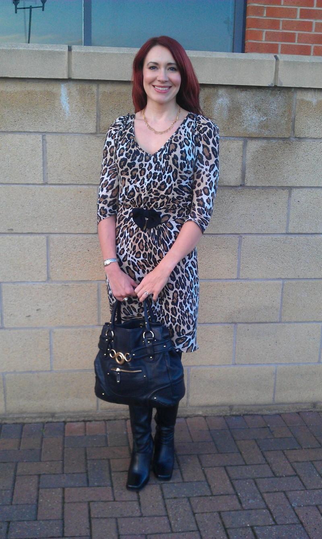 Leopard print Zara dress