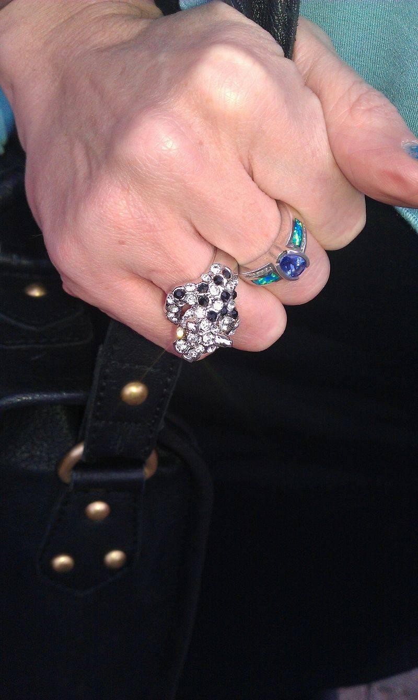 crystal panther ring