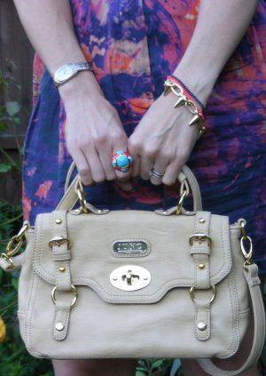 Juno cream satchel