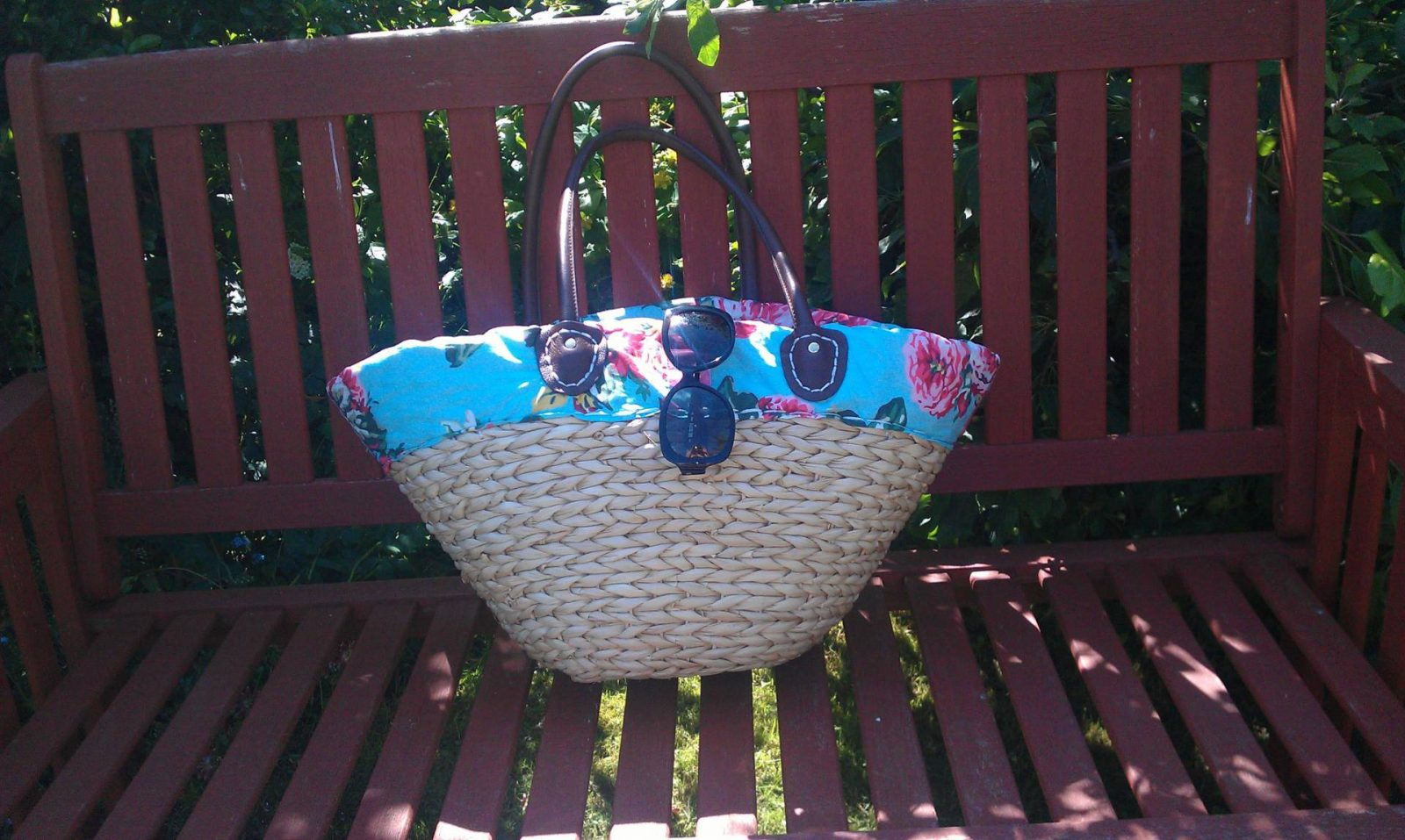 Joules straw bag