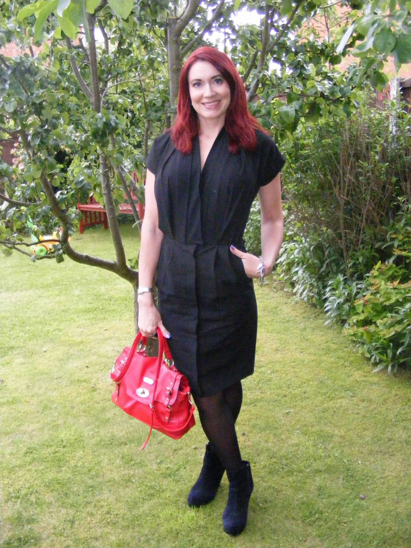 Back to Black in a Ganni Black Dress