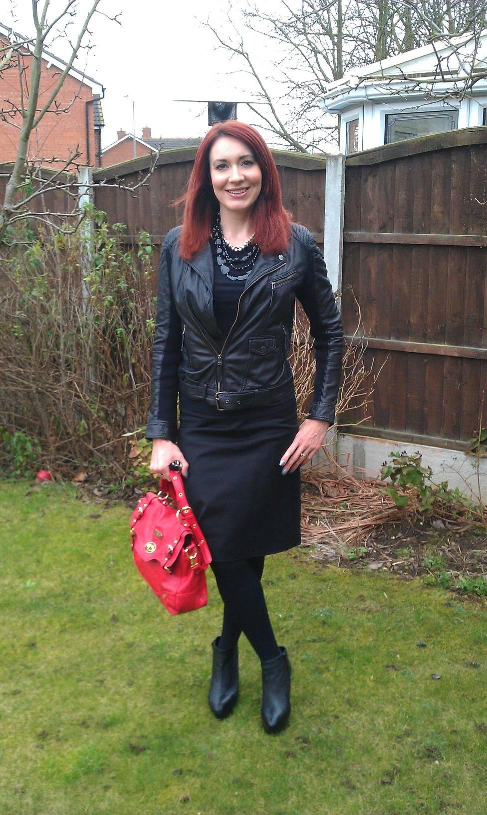 Oakwood leather jacket, red Juno satchel