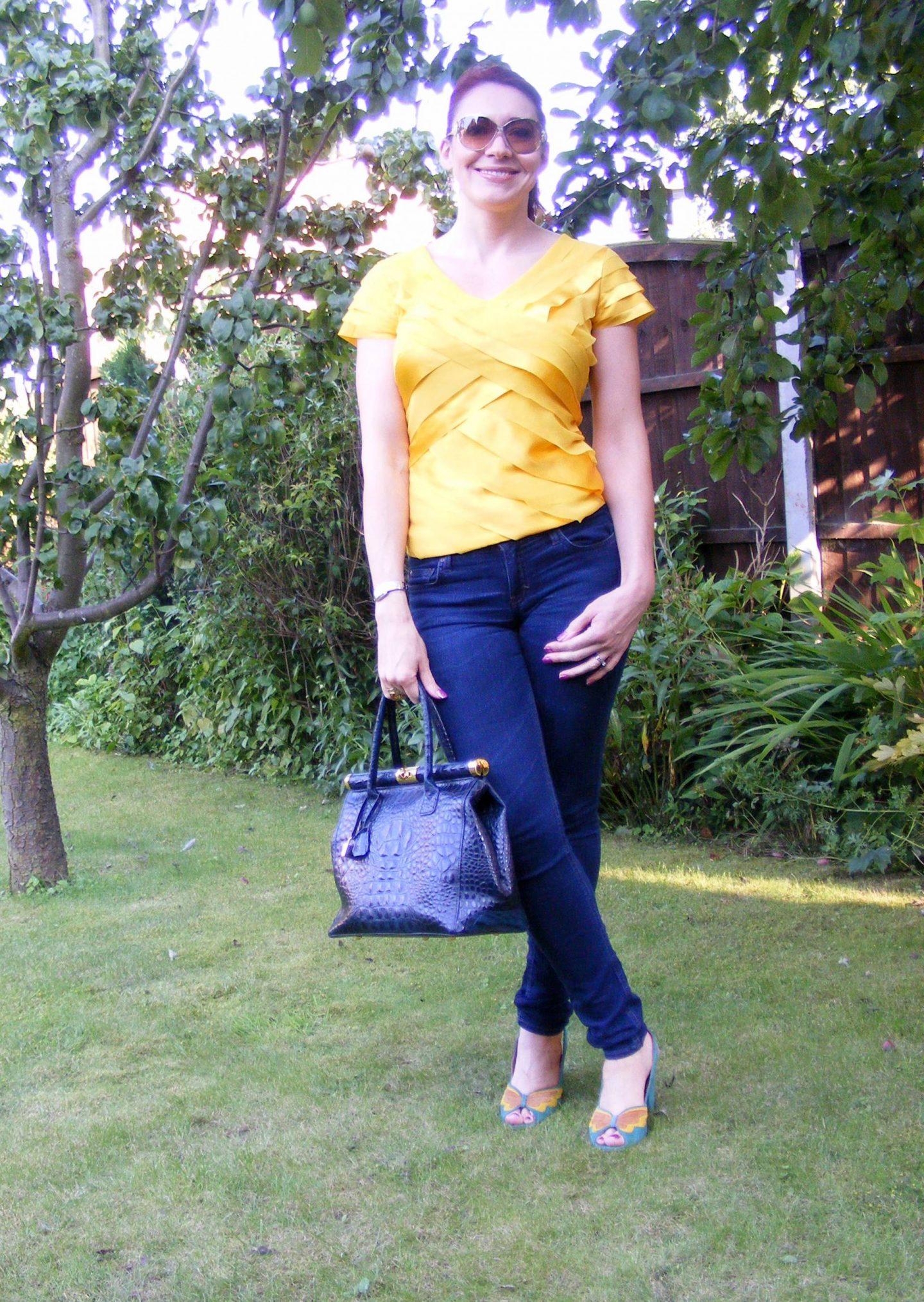 Sunshine and Blue Sky, Ben de Lisi for Principles yellow top