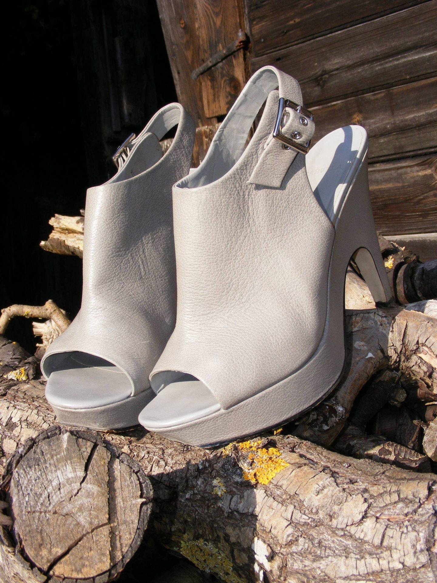 Carvela grey platform shoes