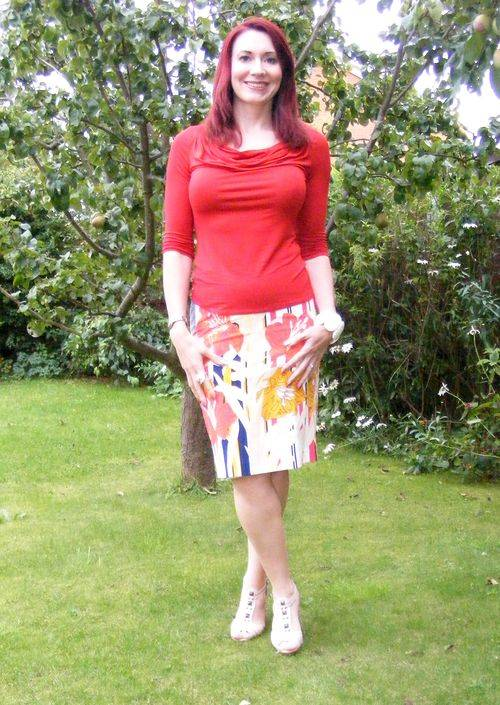 Fever Sunset Skirt and Burnt Orange Top