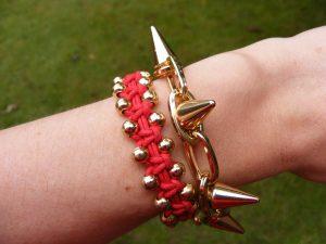 Asos gold spike bracelet