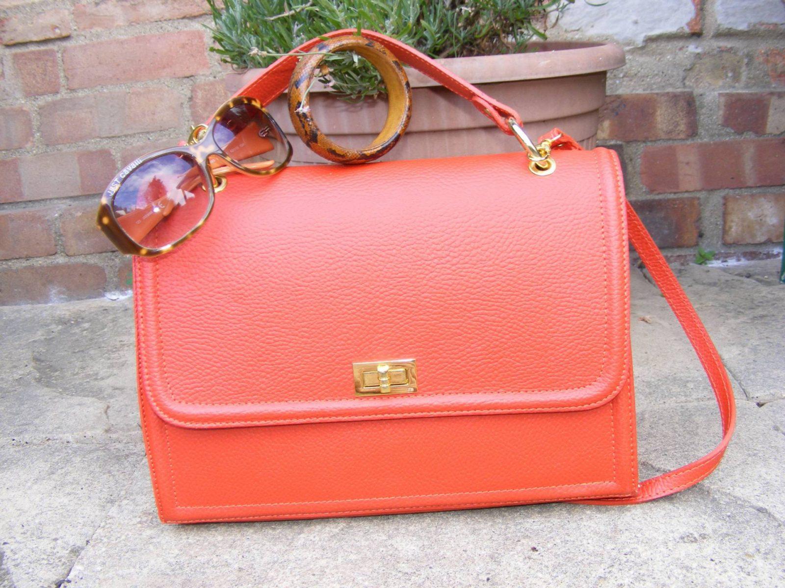 Orange bag Roberto Cavalli shades