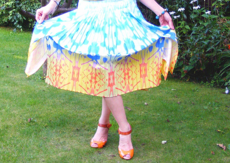 Reiss Pleated Midi Skirt
