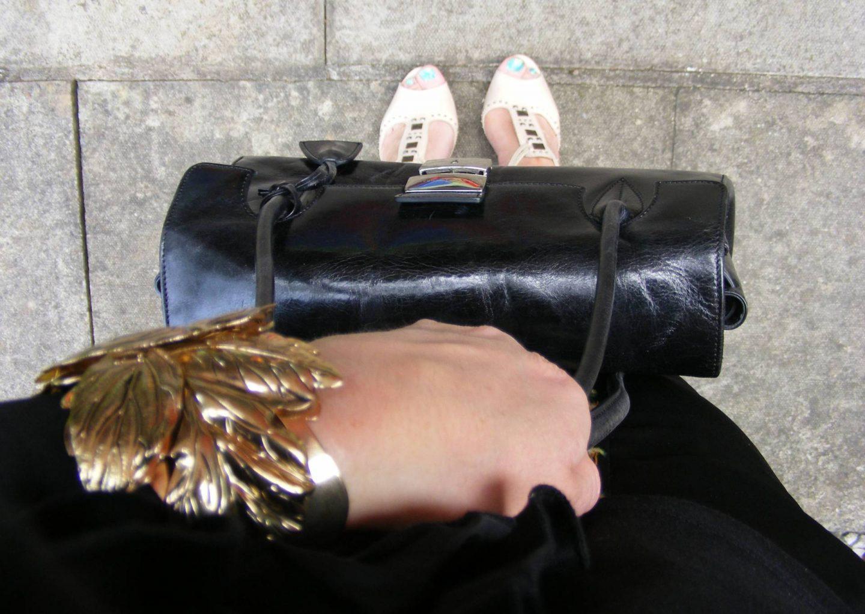 J by Jasper Conran black top handle bag