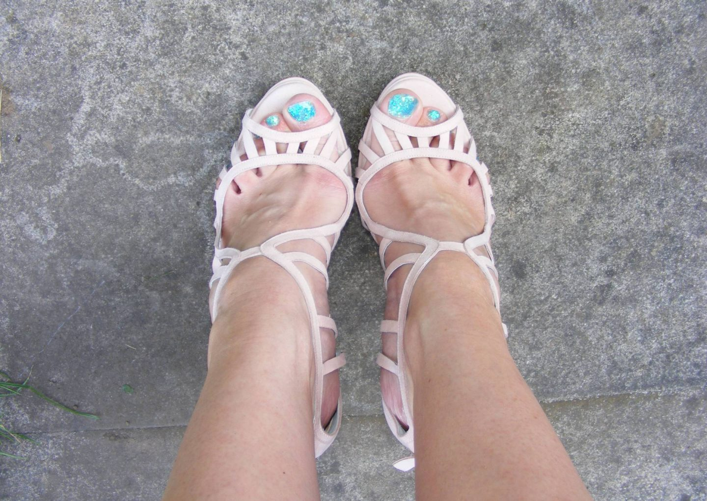 Strutt Couture pink strappy sandals