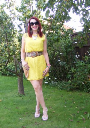 marks and Spencer yellow lace dress