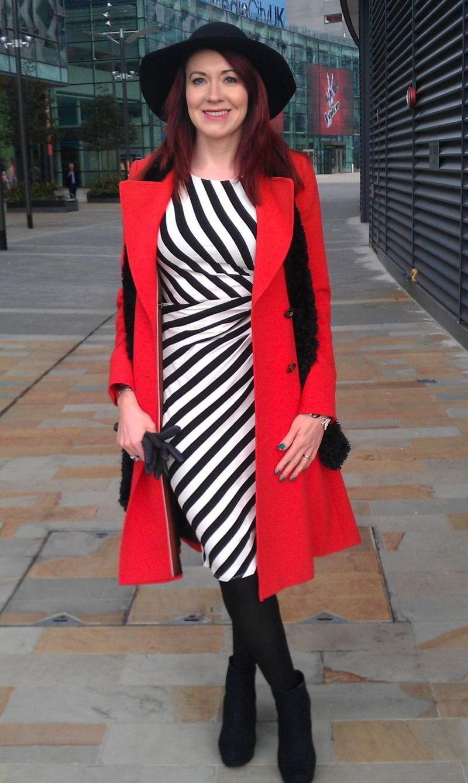 Black and white stripe F & F dress