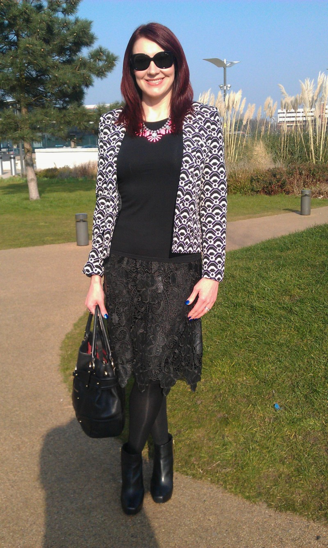 Black lace Zara skirt