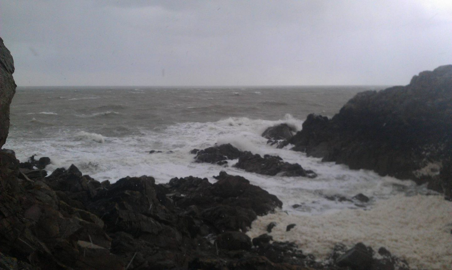 Spring Break in Brittany, stormy sea at Port Moguer near Plouha