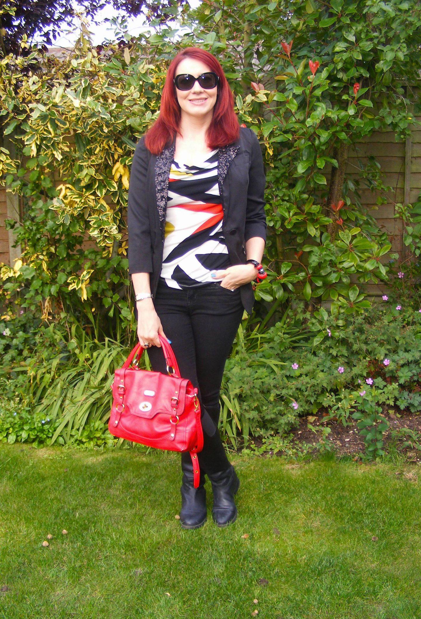 Aftershock Black Sequin Jacket and Skinny Jeans