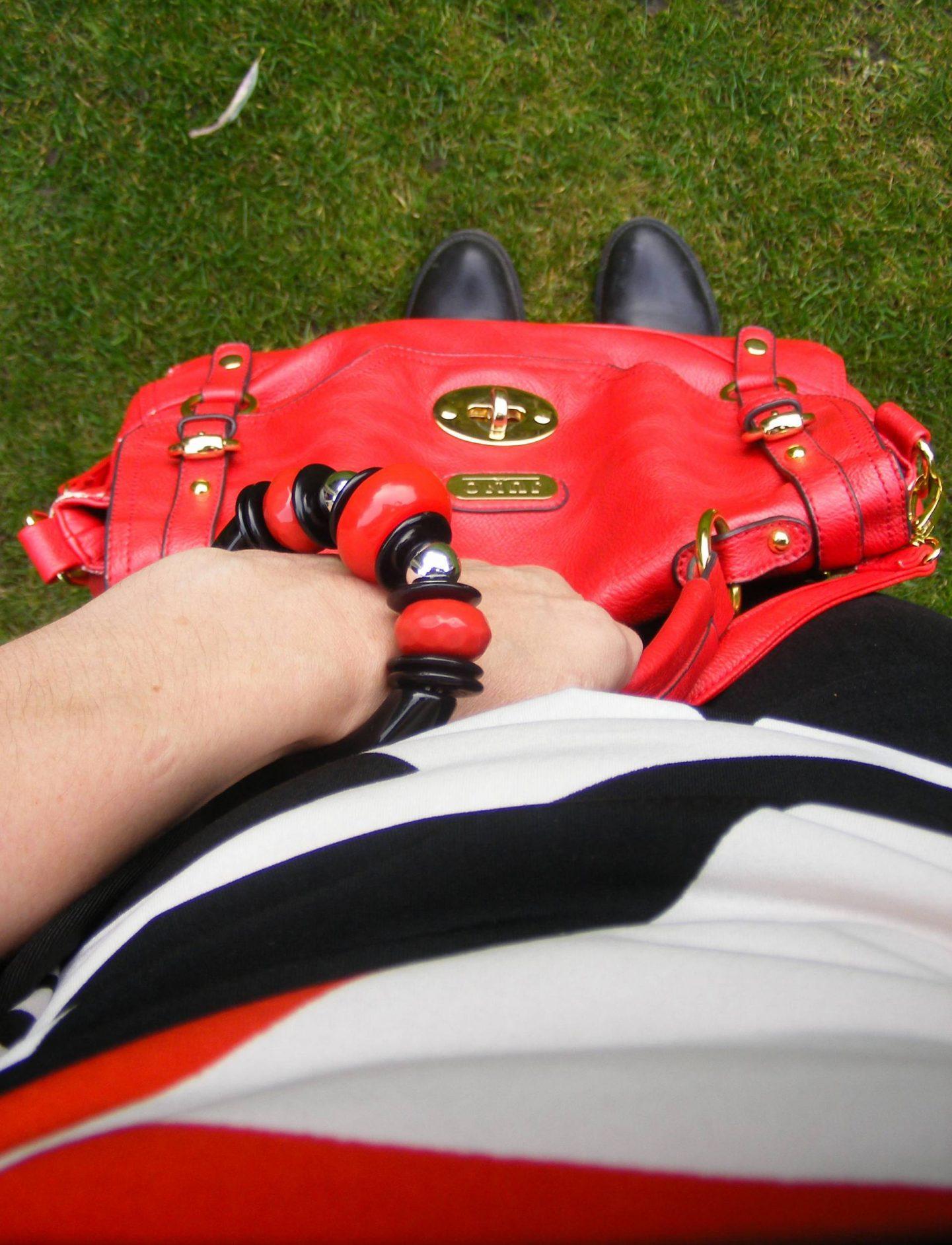 Juno red satchel
