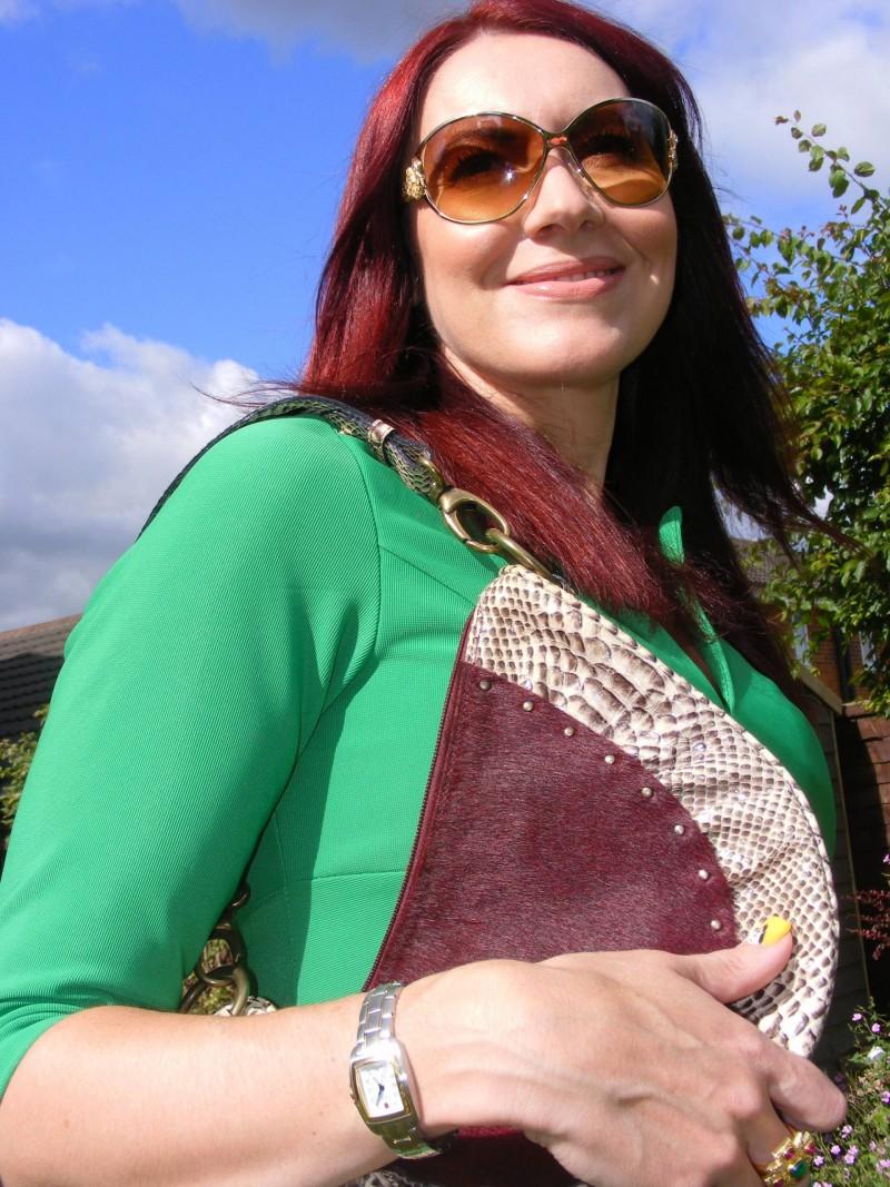 LK Bennett snakeskin shoulder bag