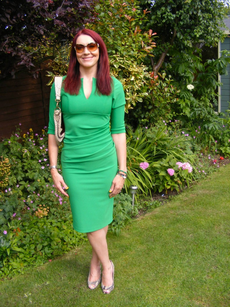 Lashes emerald green dress
