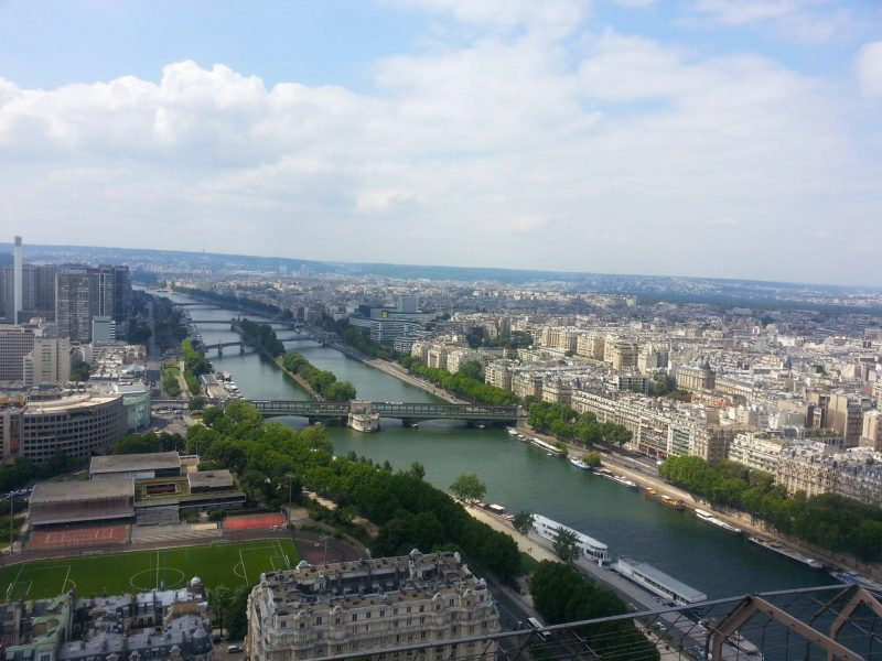 Aerial view of the Seine