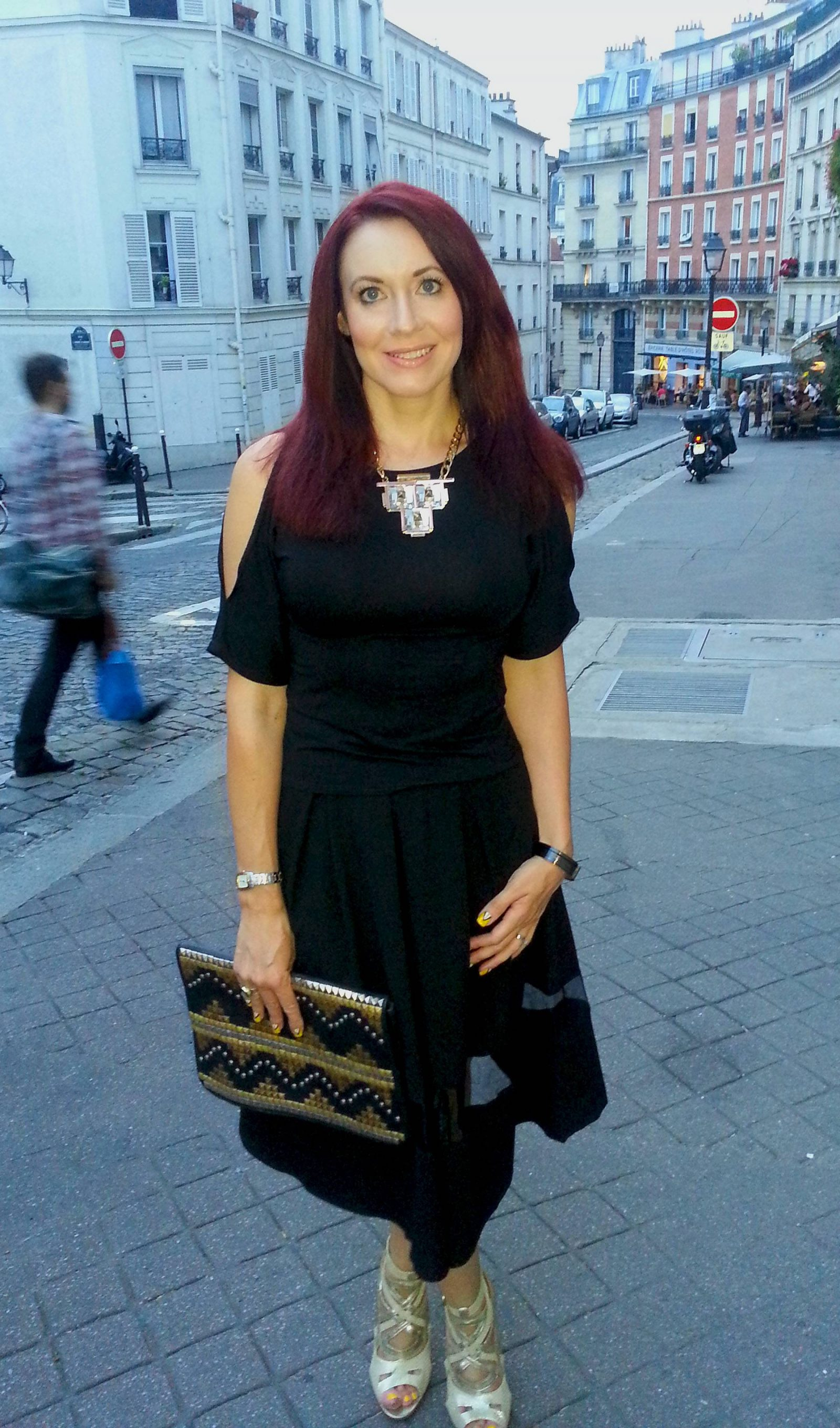 Last Night in Paris, Asos black midi skirt