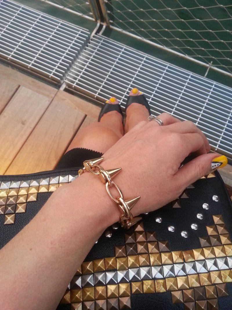 Asos clutch and bracelet