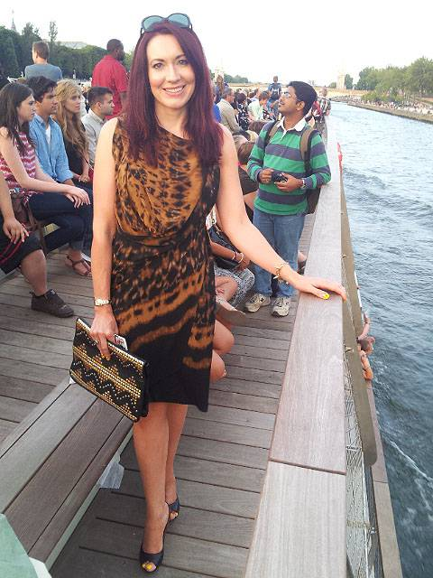 Paris: Seine Cruise and Moulin Rouge, Max Azria dress