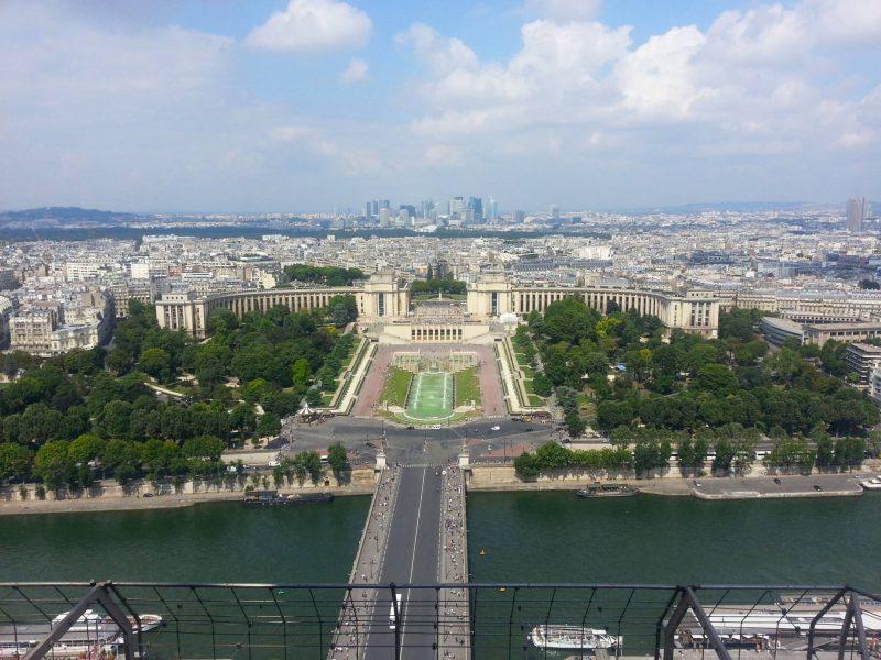 Paris aerial view of Trocadero