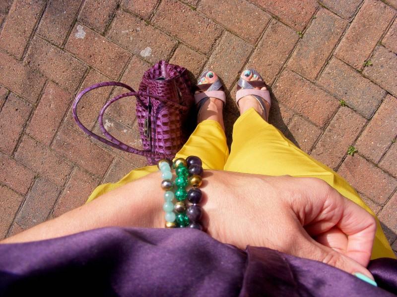 Nine West purple shoes