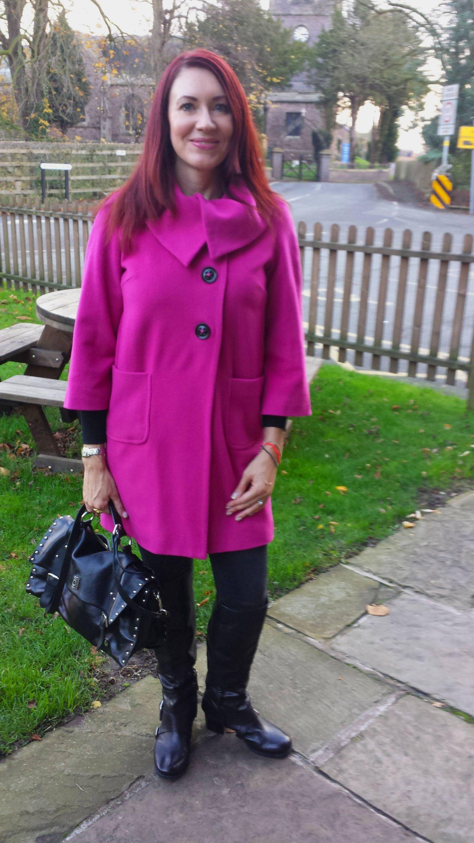 Pop of pink Per Una coat
