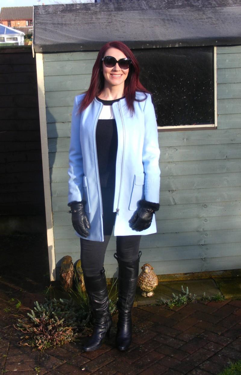 Pale blue Wallis coat