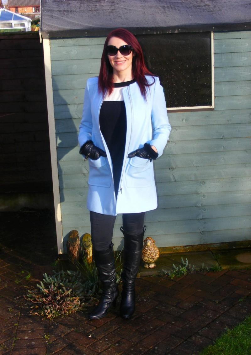 Powder blue Wallis coat