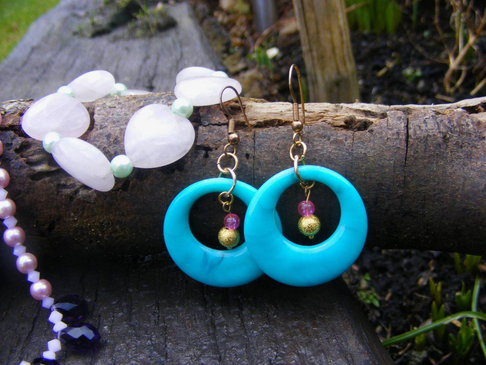 Handmade Jewellery for Spring , Turquoise earrings