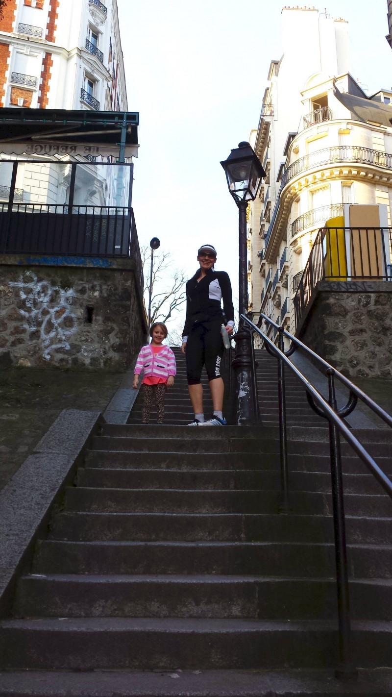 Lamarck Caulaincourt steps Montmartre Paris