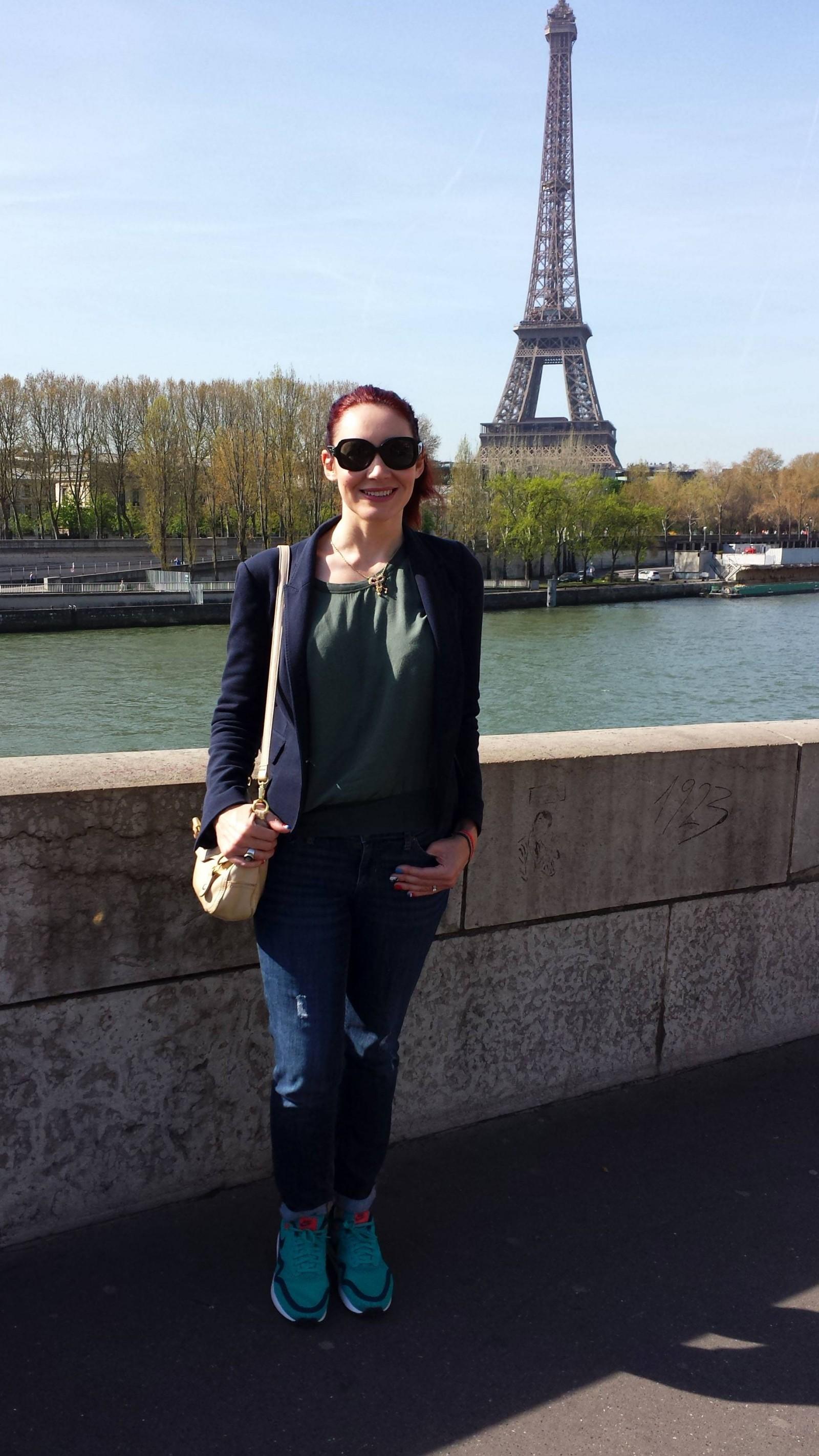 Paris: Seine Cruise and Montmartre, James Perse silk top and Zara jacket
