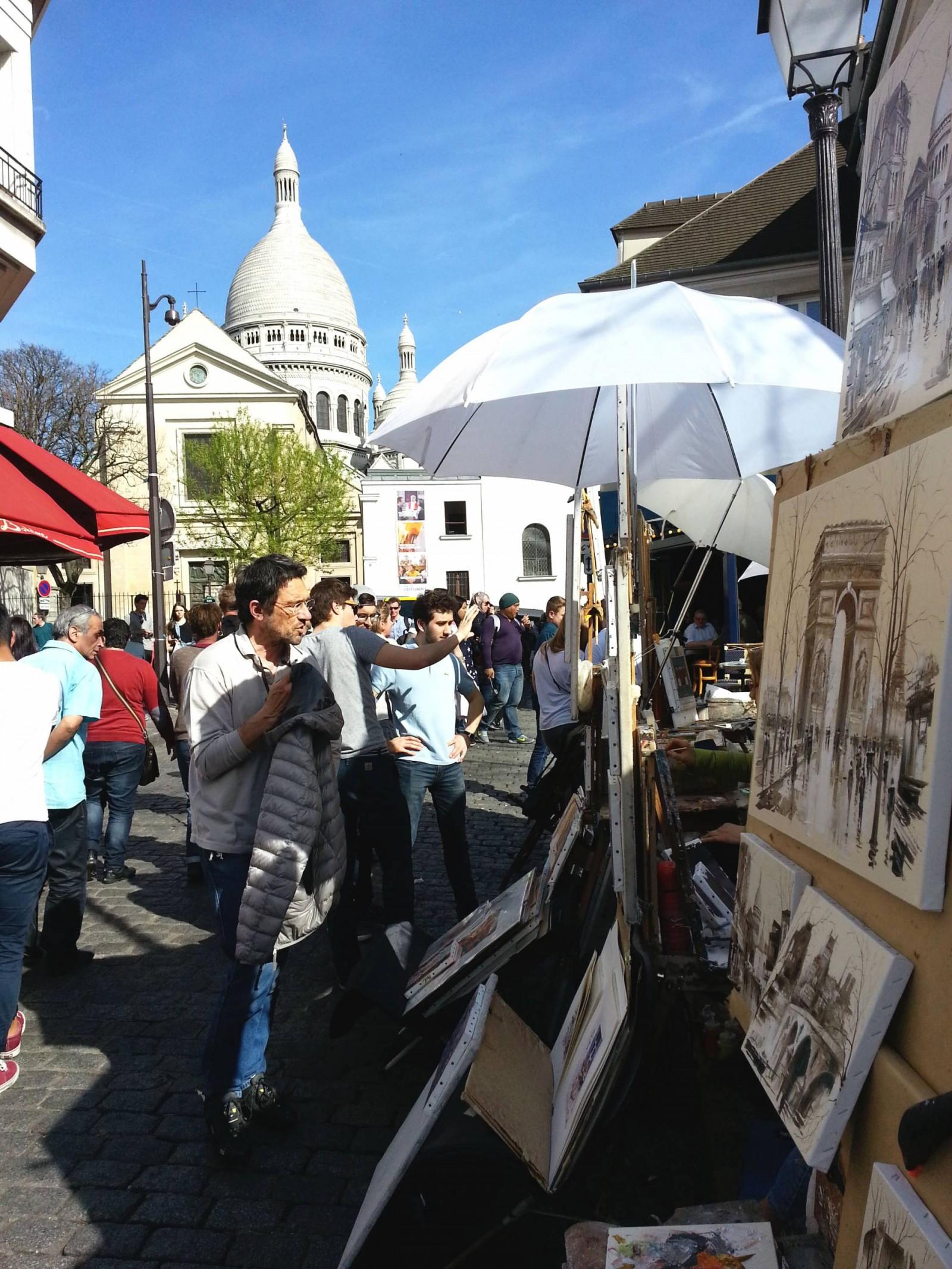 Paris: Seine Cruise and Montmartre, Montmartre artists