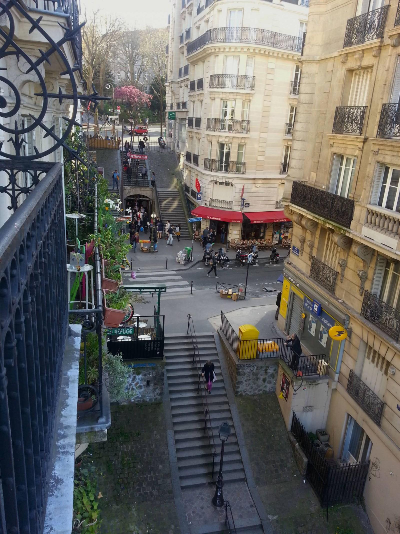 Lamarck-Caulaincourt Montmartre balcony view