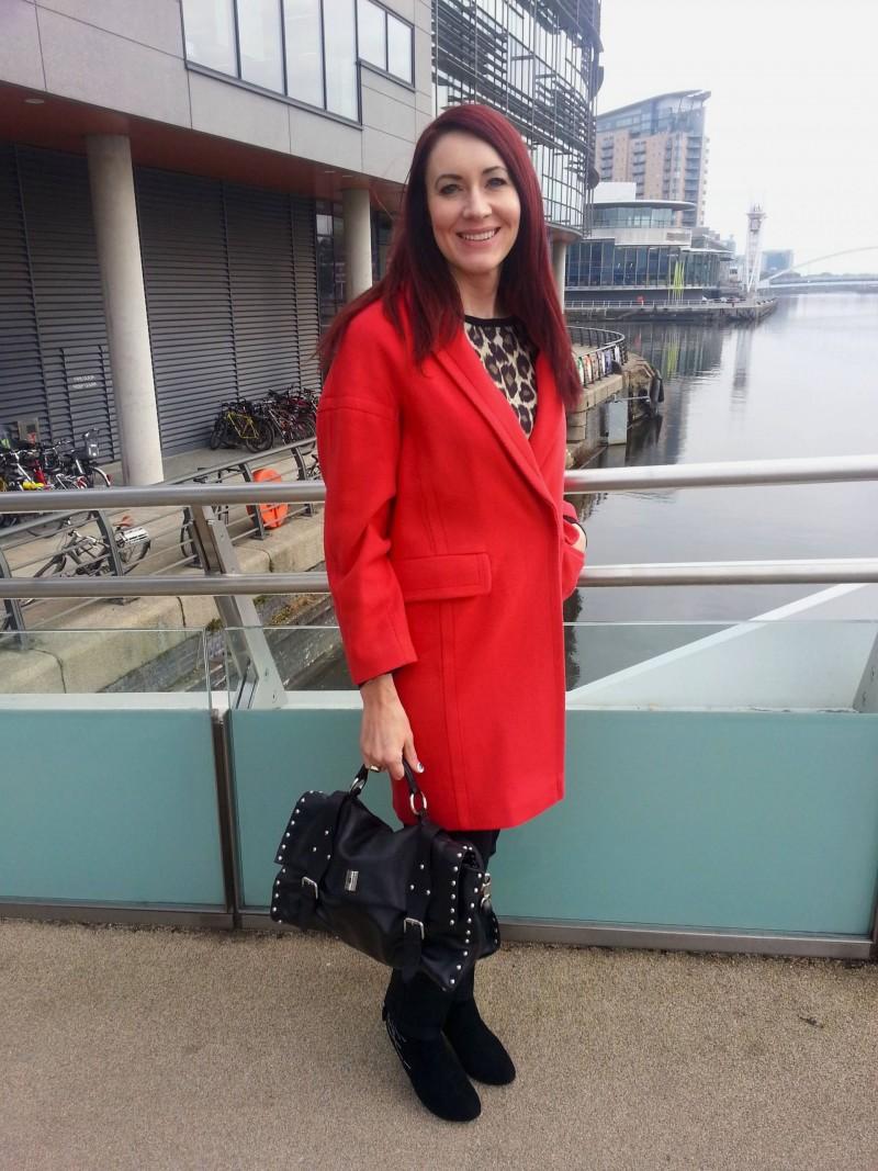 Red Wallis coat