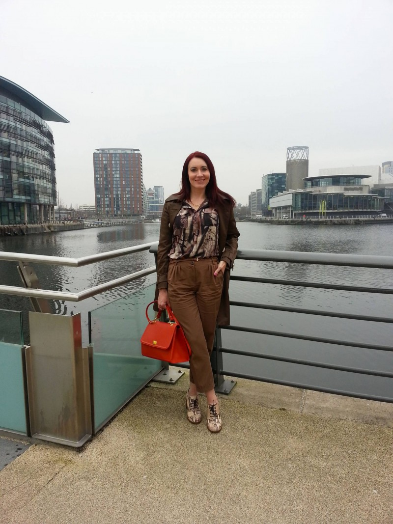 Mary Portas snake skin blouse and Topshop shoes
