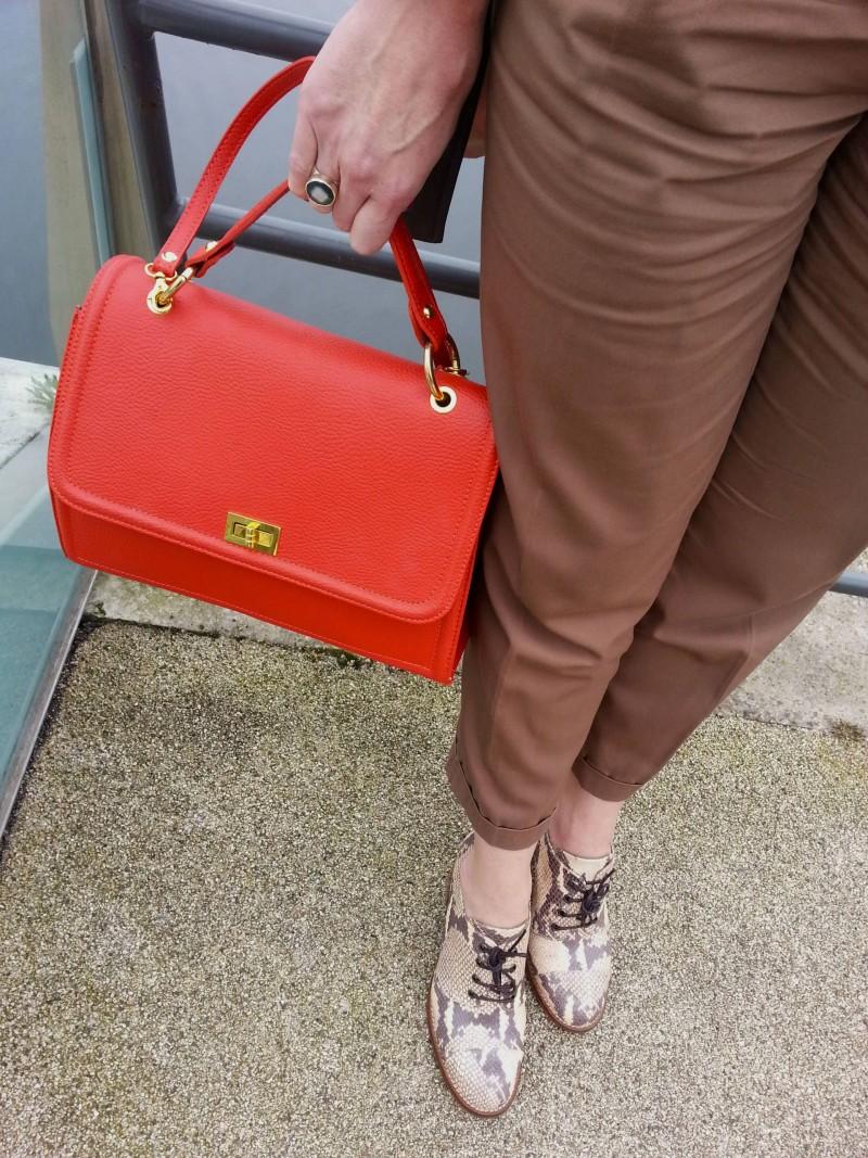Topshop lace up snakeskin shoes Asos peg leg trousers