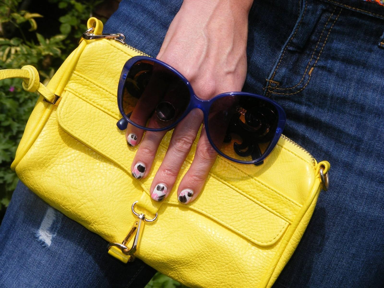 Asos blue oversized sunglasses