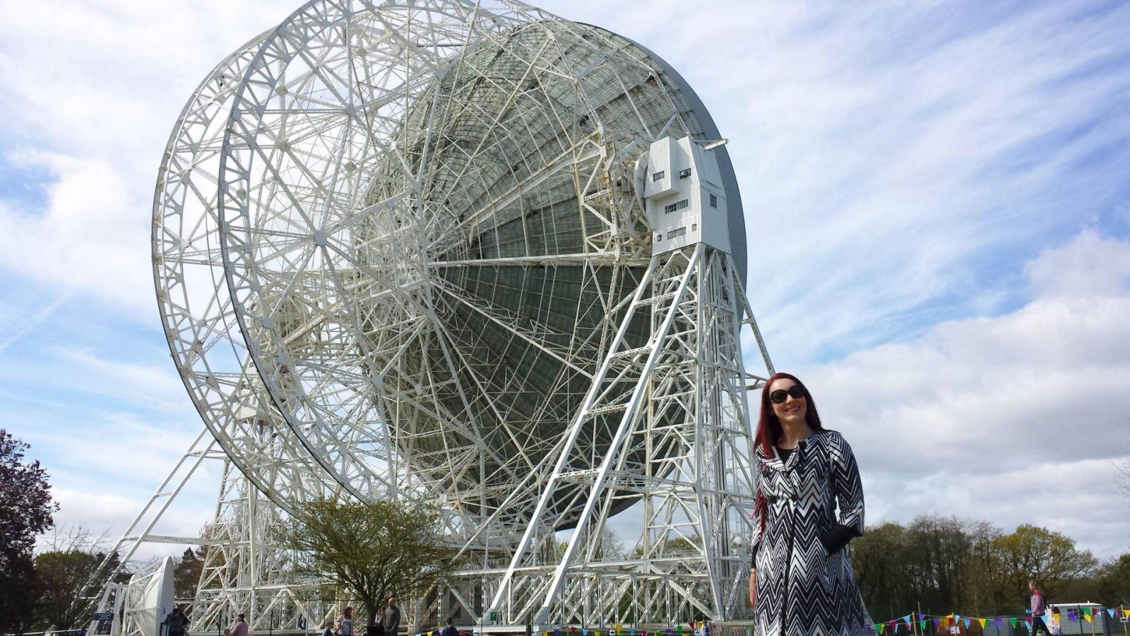 Monochrome Zigzag Print Coat - A Day Out at Jodrell Bank
