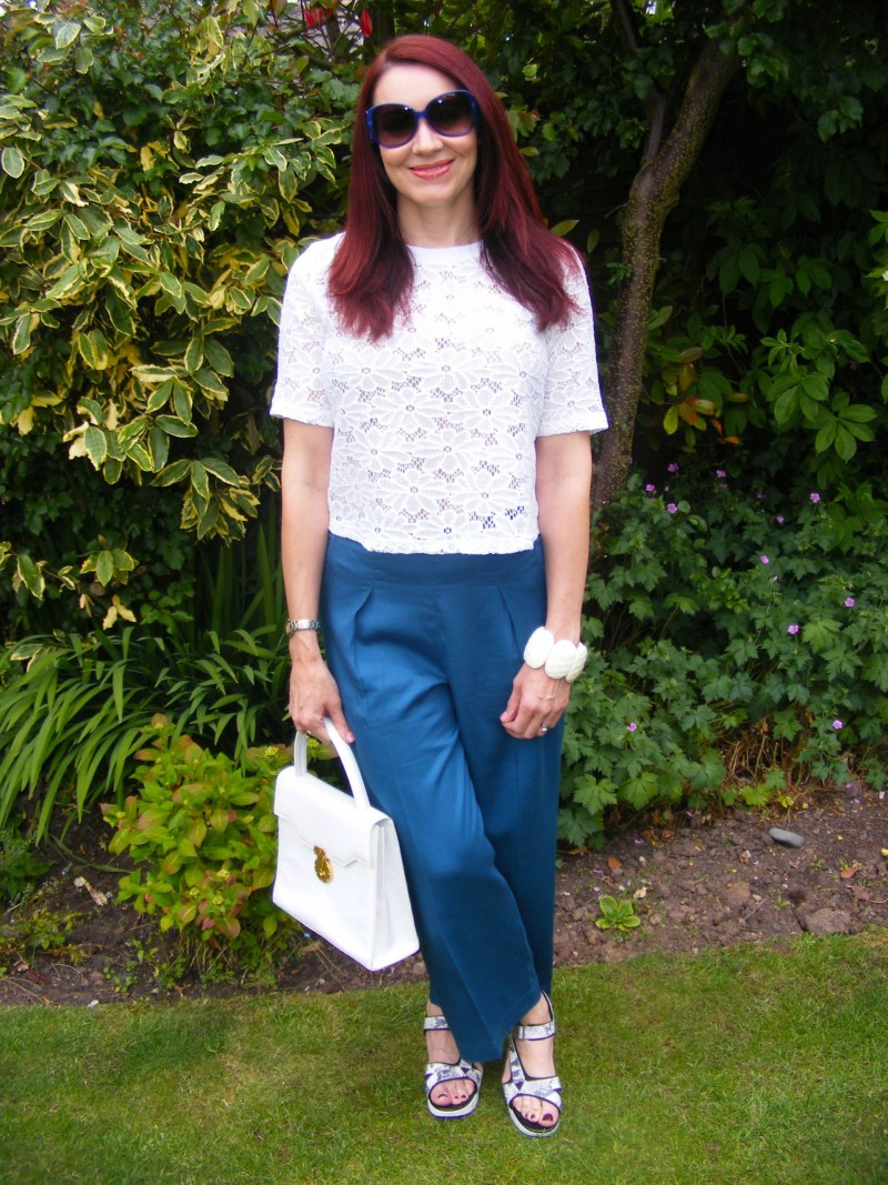 Asos culottes and lace top