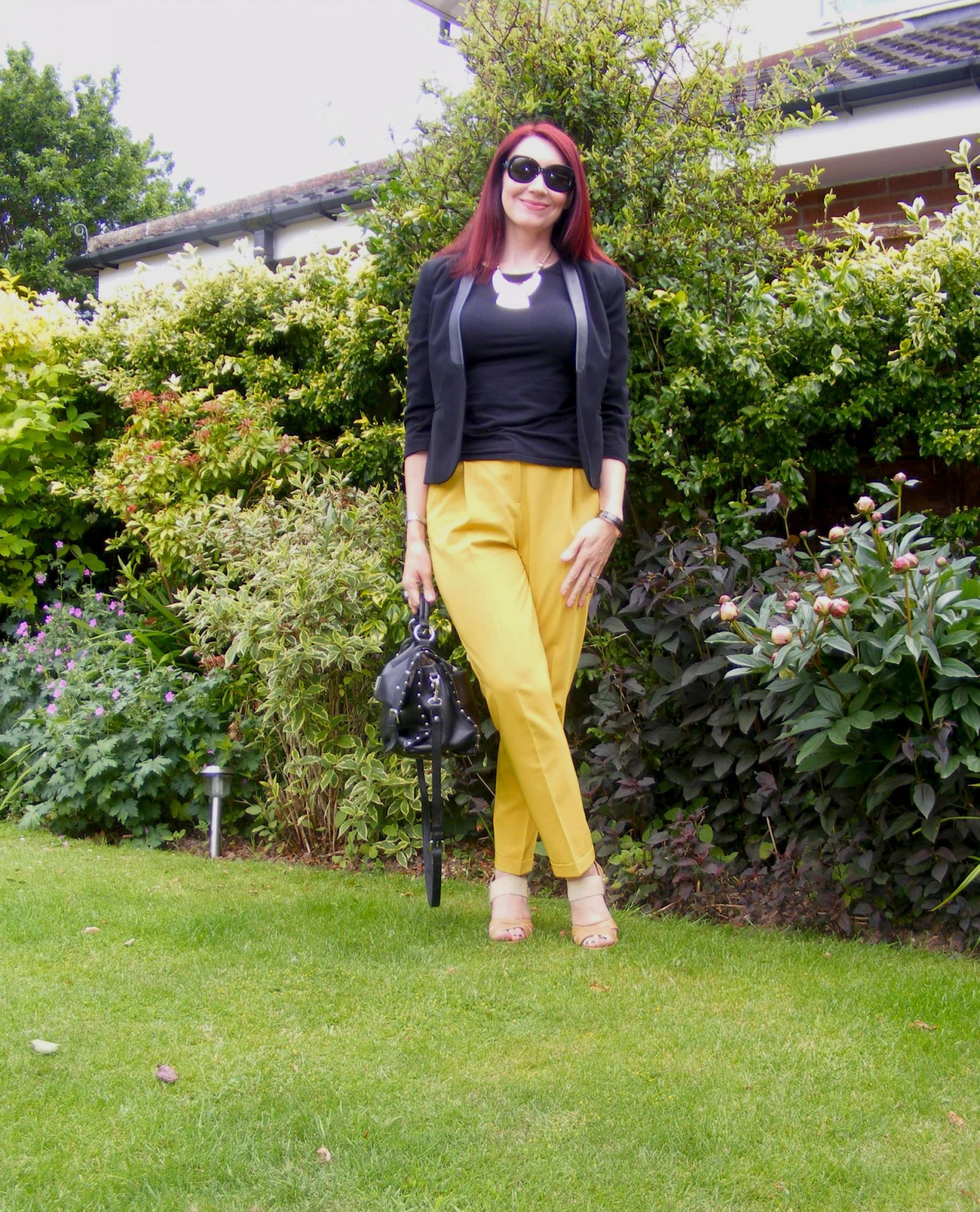 Asos trousers and M&S black jacket