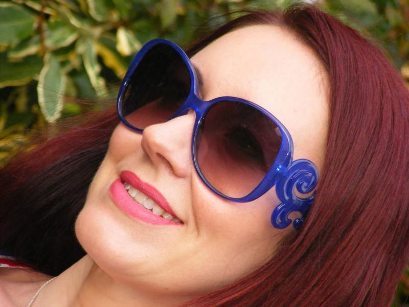 Asos blue sunglasses
